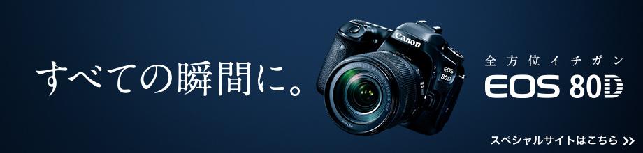 日本の瞬間を。 EOS 80D FOR JAPAN 新次元AF EOS 80D スペシャルサイトはこちら