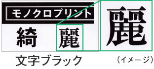 図:文字ブラック(顔料)