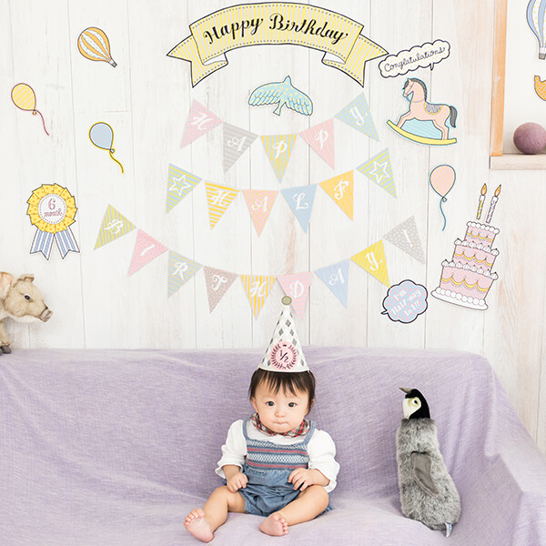 インスタ映え間違いなし赤ちゃんの健やかな成長をお祝いするハーフ